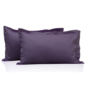 Lavender Pillow Shams Solid Bliss Sateen