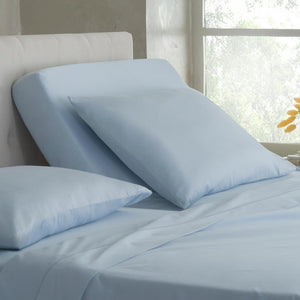 Light blue top split sheets