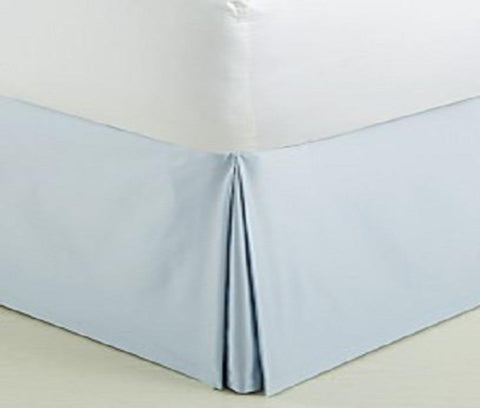 Comfy Bed Skirt 100% Cotton Sateen Light Blue - aanyalinen