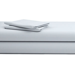 Comfy Solid Sateen Sheet Set Light Grey