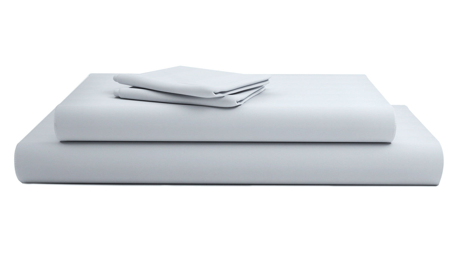 Light Grey Solid Sateen Bliss Sheets Set