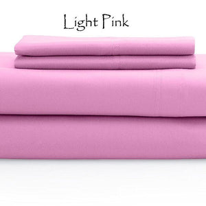 Pink Bed Sheets Set Comfy Sateen Solid