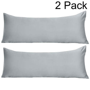 Light grey body pillow covers