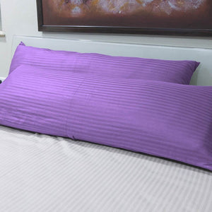 Lilac Stripe 20x54 Body Pillow Cover