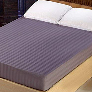 Lilac Stripe Fitted Sheet