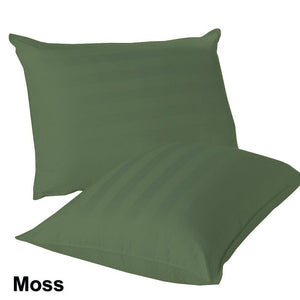 moss green stripe euro shams