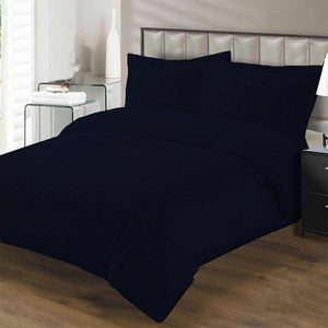 Navy Blue Duvet cover set with fitted sheet