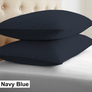 navy blue euro shams