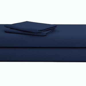 Comfy Navy Blue Bed Skirt Sateen - aanyalinen