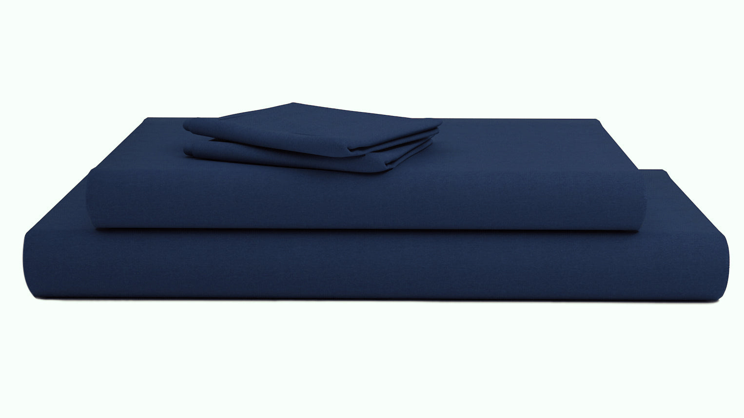 Navy Blue Bed Sheets Set Bliss Sateen Solid