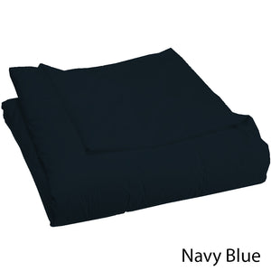 Comfy Duvet Cover Sateen Solid Navy Blue