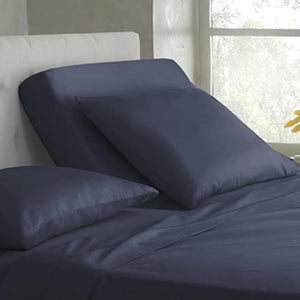 Navy blue top split sheets