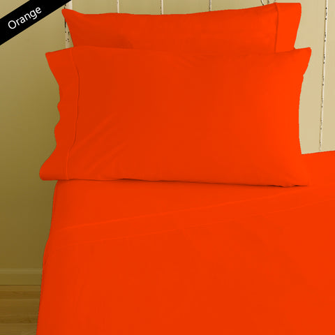 Fitted sheet with Pillowcase Solid Comfy Orange