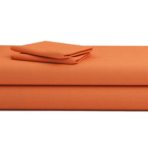 Comfy Solid Sateen Sheet Set Orange