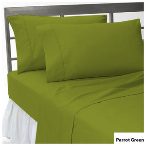 Fitted sheet with Pillowcase Solid Comfy Parrot Green