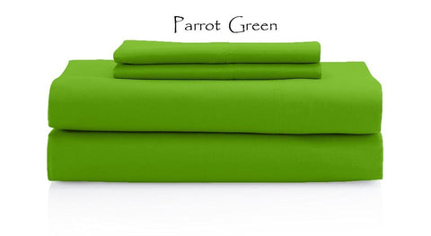 Comfy Solid Sateen Sheet Set Parrot Green - aanyalinen