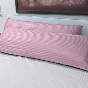 Pink Stripe 20x54 Body Pillow Cover