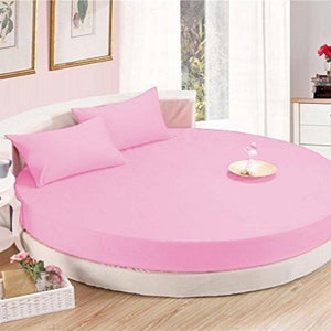 Comfy Round Sheet Set Solid 84 Inch Diameter Pink
