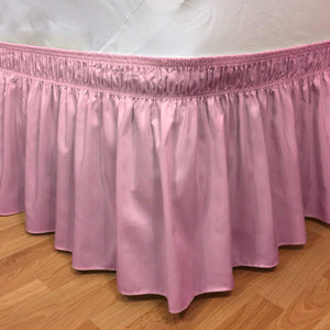 Pink Wrap Around Bed Skirt