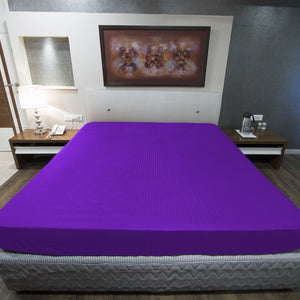 Purple Stripe Fitted Sheet