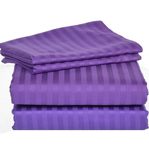 Comfy Stripe Sheet Set Purple Sateen