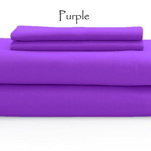 Purple Sheet Set Solid Comfy Sateen
