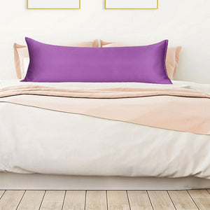 Purple body pillow