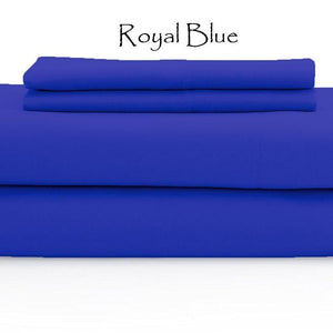 Royal Blue Bed Sheets Set Bliss Sateen Solid