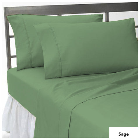 Fitted sheet with Pillowcase Solid Comfy Sage - aanyalinen