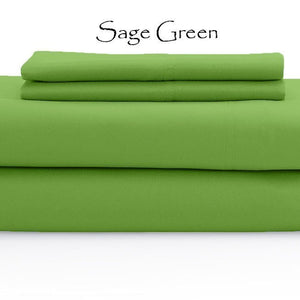 Sage Bed Sheets Set Bliss Solid Sateen