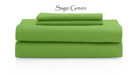 Comfy Solid Sateen Sheet Set Sage - aanyalinen