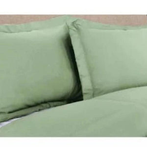 Sage Pillow Shams Solid Bliss Sateen