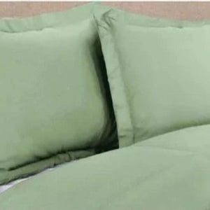 Sage Pillow Shams Solid Comfy Sateen
