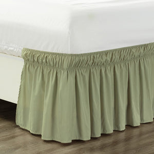 Sage Wrap Around Bed Skirt