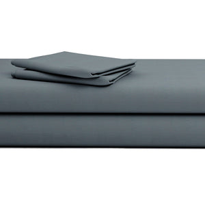 Comfy Solid Sateen Sheet Set Dark Grey