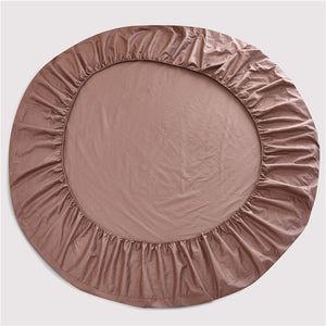 Taupe Round Fitted Sheet Only Solid Sateen Bliss