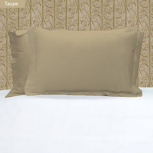 Taupe Pillow Shams Solid Bliss Sateen