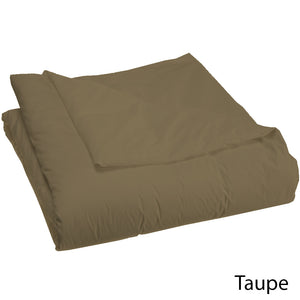 Comfy Solid Duvet Cover Sateen Taupe