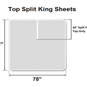 Top split king sheets