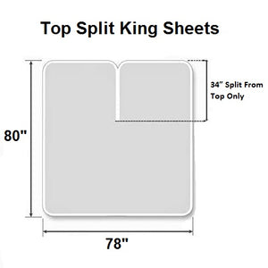 Light grey top split king sheets