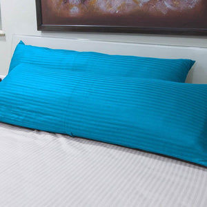 Turquoise Stripe 20x54 body pillow cover