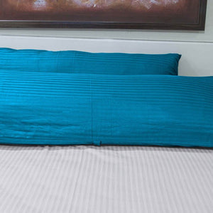 Turquoise Stripe Body Pillow Cover