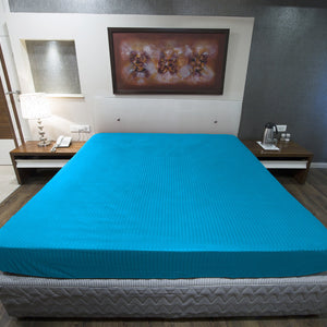 Turquoise Stripe Fitted Sheet