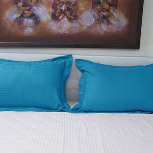 Turquoise Stripe Pillow Shams