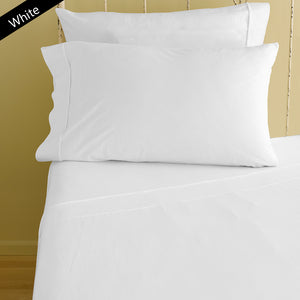Fitted sheet with Pillowcase Solid Comfy White