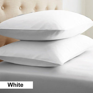 White Cotton Euro Shams