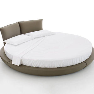 White Round Bed Sheet Set