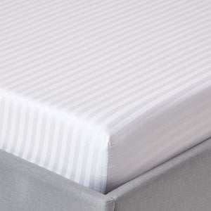 White Stripe Fitted Sheet