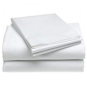 Sateen Sheet Set With Extra Pillowcase-Comfy Solid White - aanyalinen