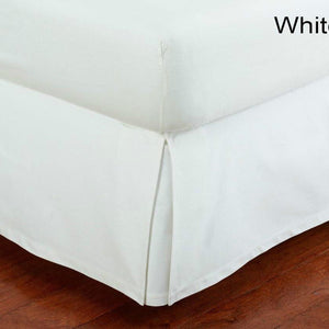 White Cotton bed skirt